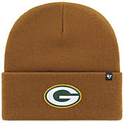 '47 Men's Green Bay Packers Carhartt Brown Knit Hat