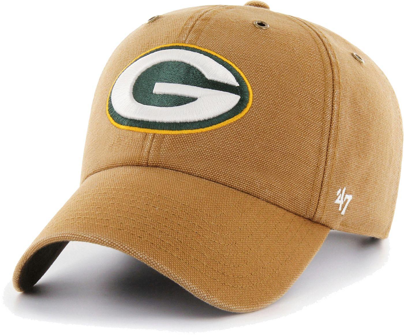 '47 Men's Green Bay Packers Carhartt Clean Up Adjustable Brown Hat