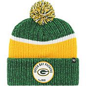 '47 Men's Green Bay Packers Holcomb Green Cuffed Pom Knit
