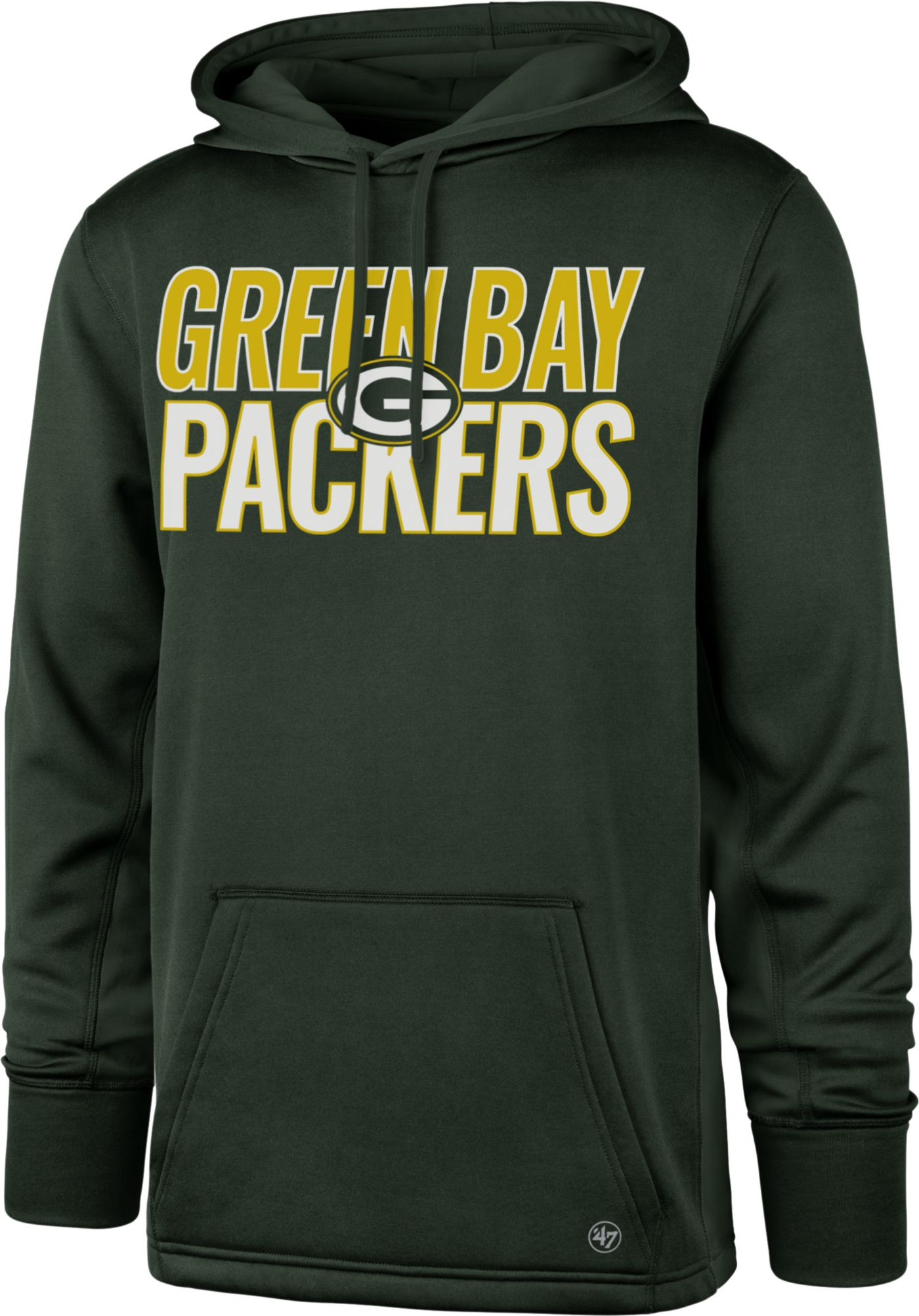 '47 Men's Green Bay Packers Tech Fleece Green Performance Hoodie