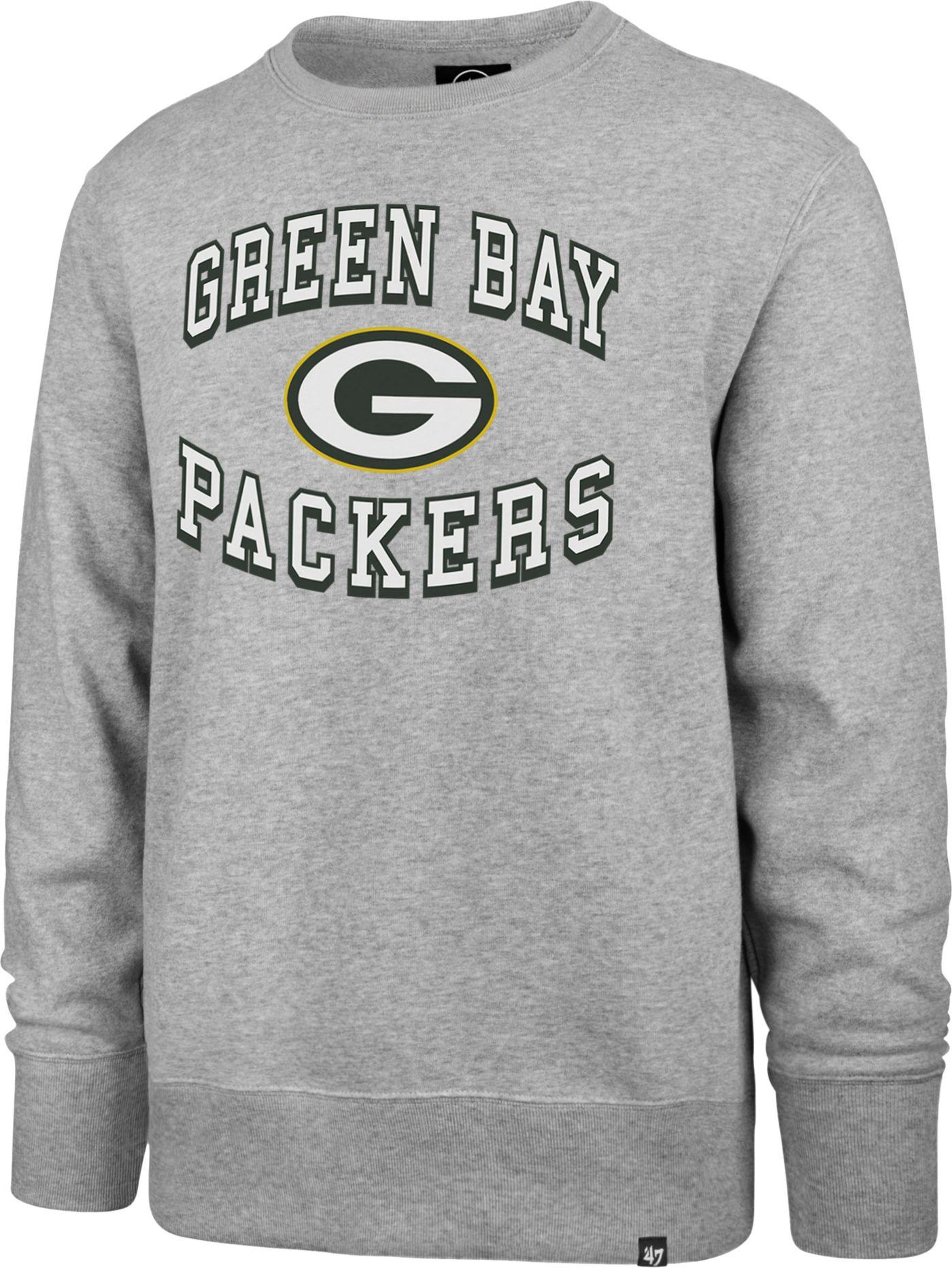 '47 Men's Green Bay Packers Headline Grey Crew