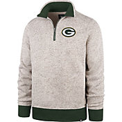 '47 Men's Green Bay Packers Oatmeal Kodiak Quarter-Zip