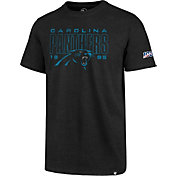 '47 Men's Carolina Panthers 100th Club Black T-Shirt