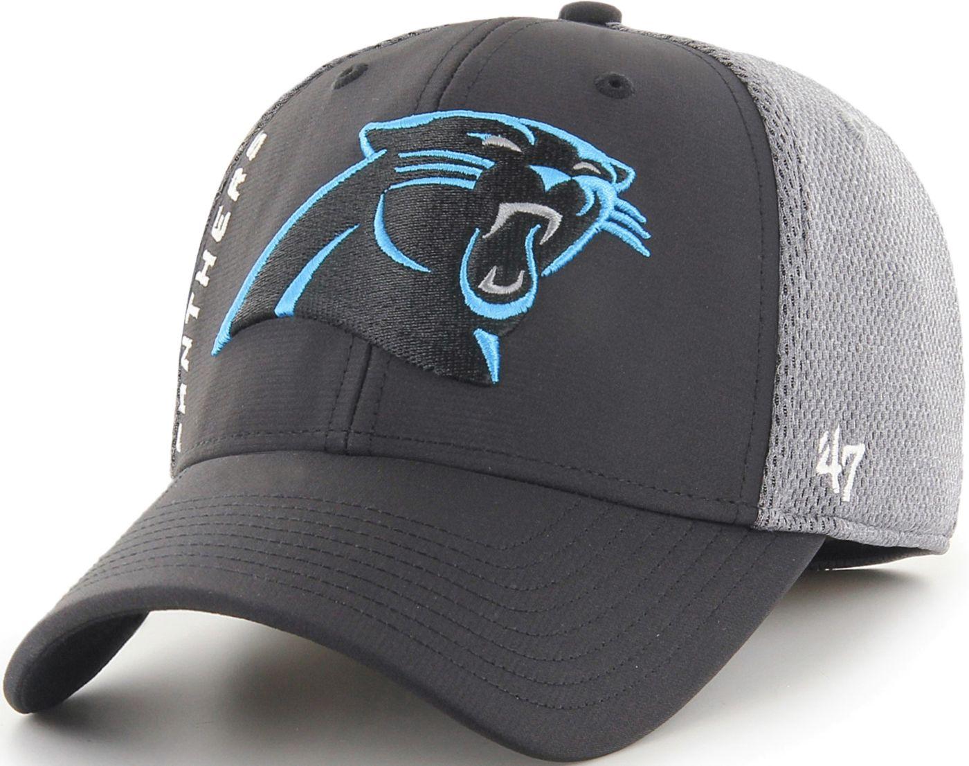 '47 Men's Carolina Panthers Wycliff Contender Stretch Fit Black Hat
