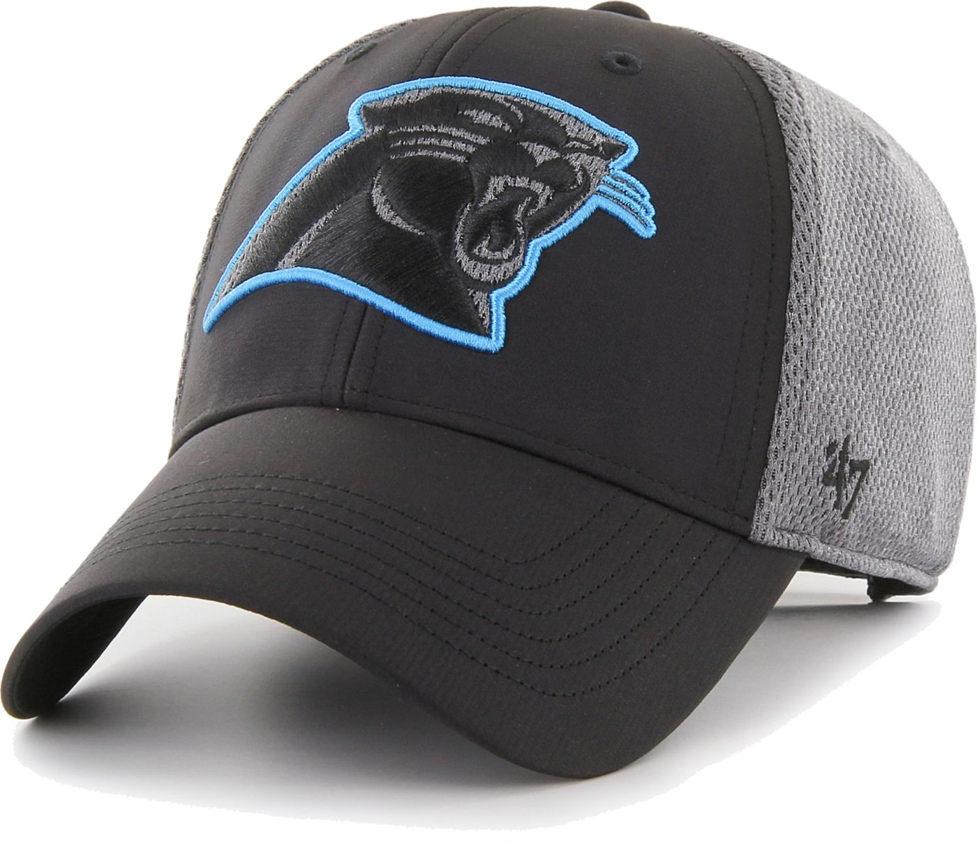 '47 Men's Carolina Panthers Arlo MVP Adjustable Black Hat