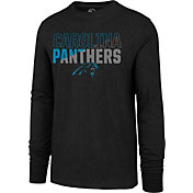 '47 Men's Carolina Panthers Club Long Sleeve Black Shirt