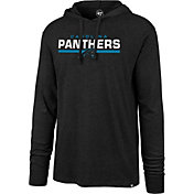 '47 Men's Carolina Panthers Club Black Hooded Long Sleeve Shirt