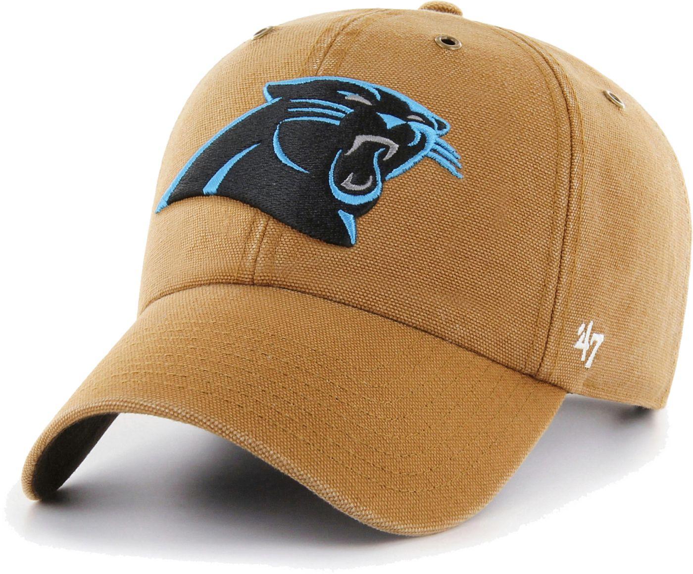 '47 Men's Carolina Panthers Carhartt Clean Up Adjustable Brown Hat