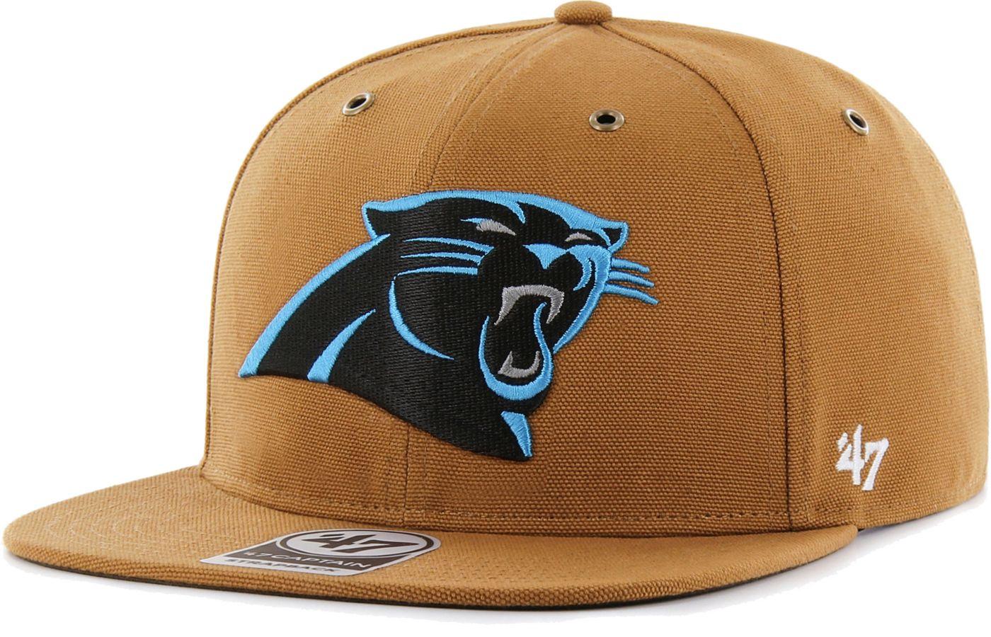 '47 Men's Carolina Panthers Carhartt Captain Adjustable Brown Hat