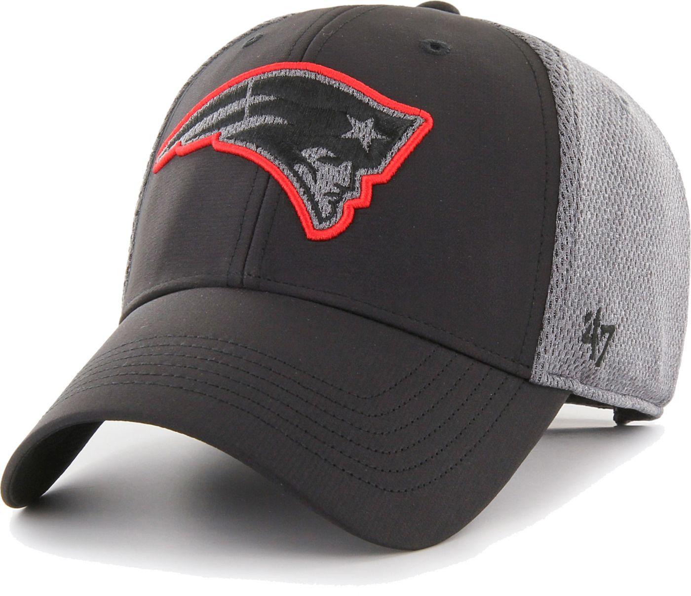 '47 Men's New England Patriots Arlo MVP Adjustable Black Hat