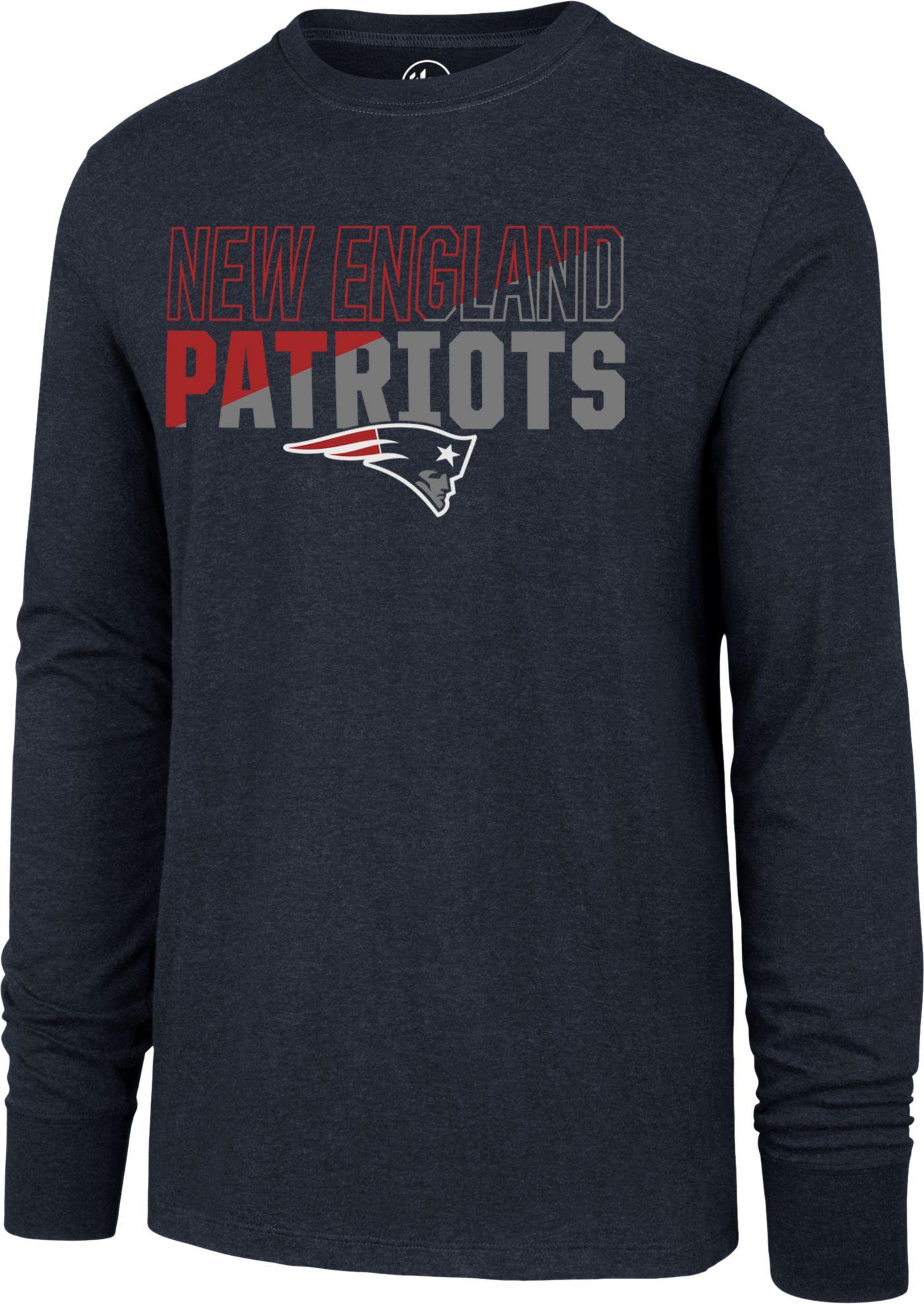 '47 Men's New England Patriots Club Long Sleeve Navy Shirt
