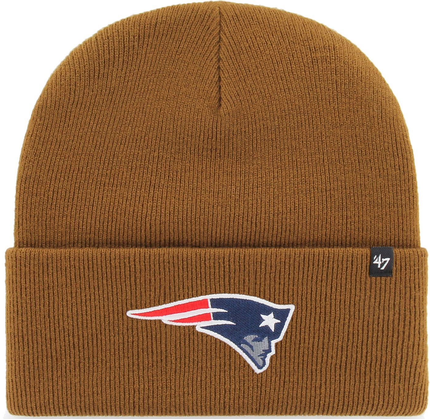 '47 Men's New England Patriots Carhartt Brown Knit Hat