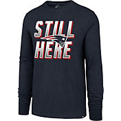 '47 Men's New England Patriots Still Here Navy Long Sleeve Shirt