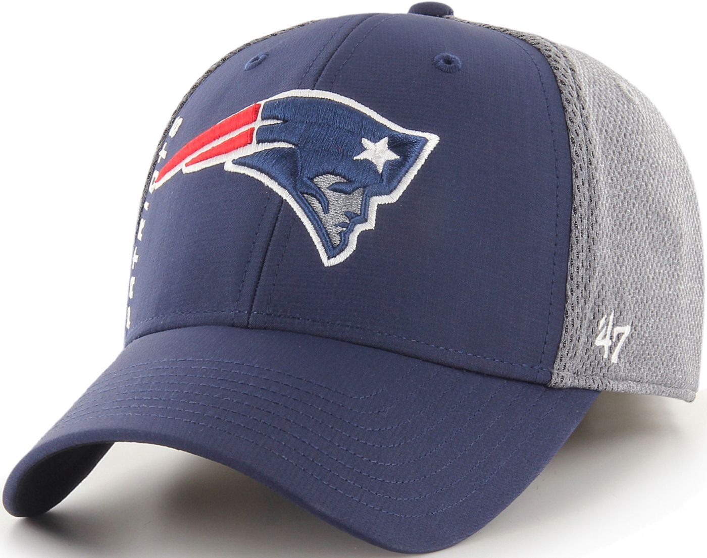 '47 Men's New England Patriots Wycliff Contender Stretch Fit Navy Hat