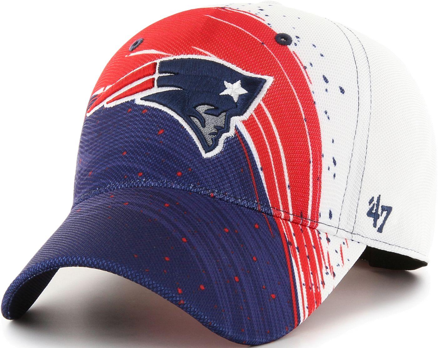 '47 Men's New England Patriots Splash Solo Navy Stretch Fit Hat