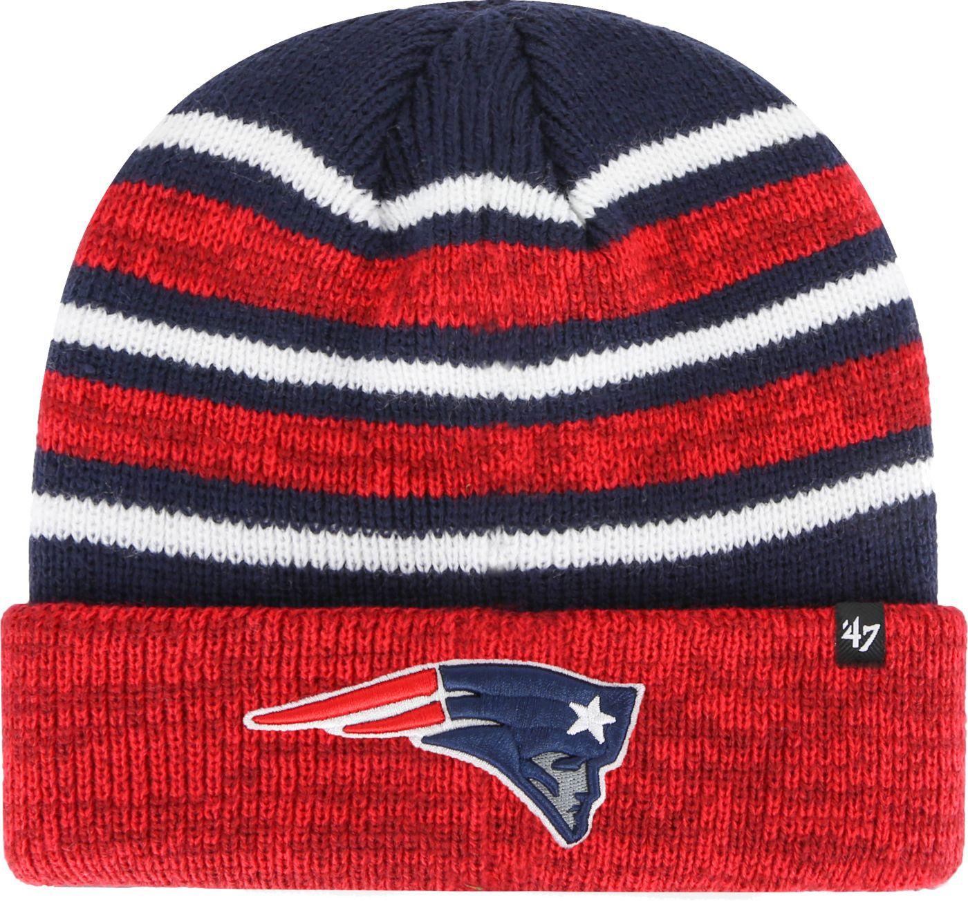'47 Men's New England Patriots Rotation Navy Cuffed Knit