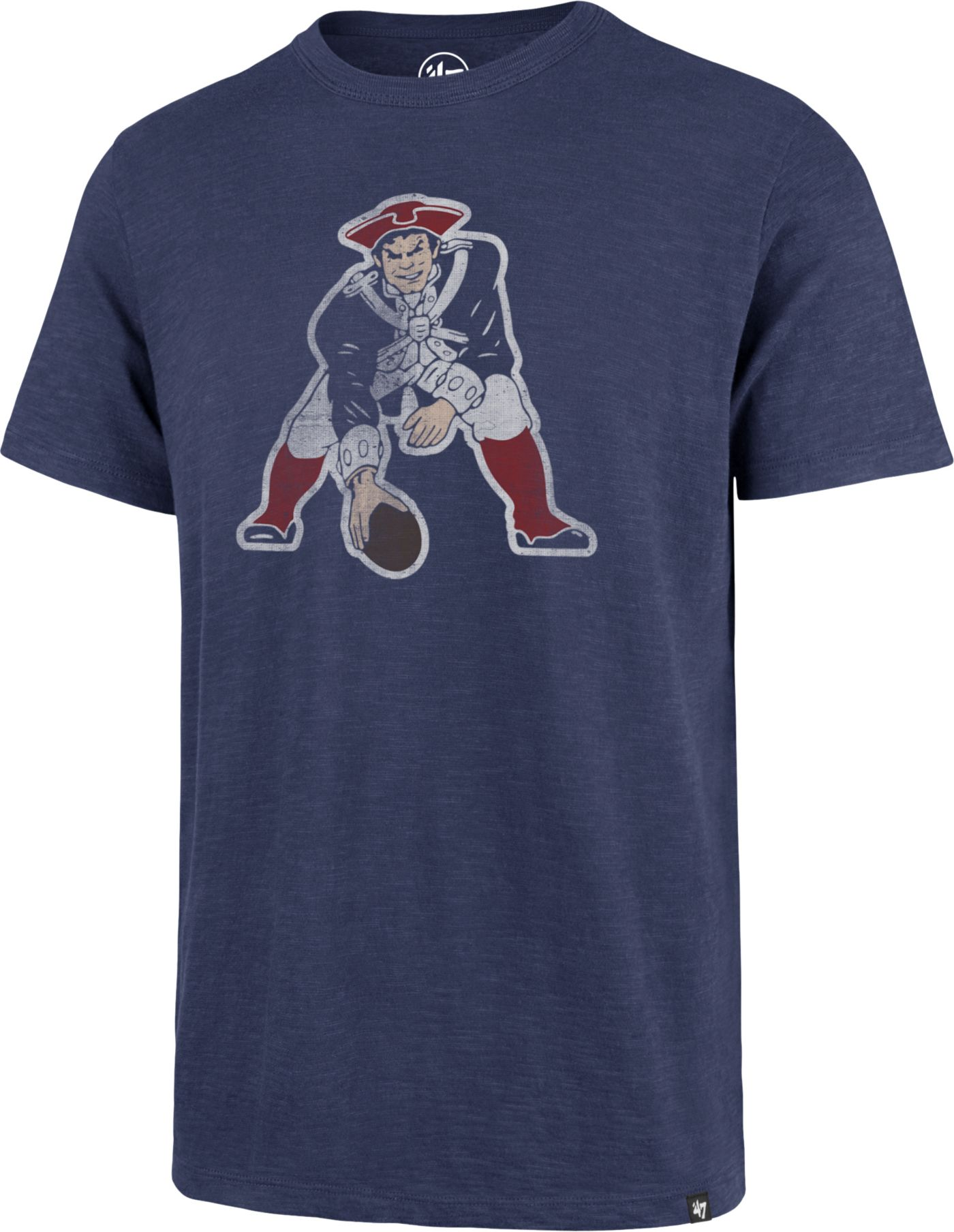 '47 Men's New England Patriots Scrum Logo Legacy Blue T-Shirt
