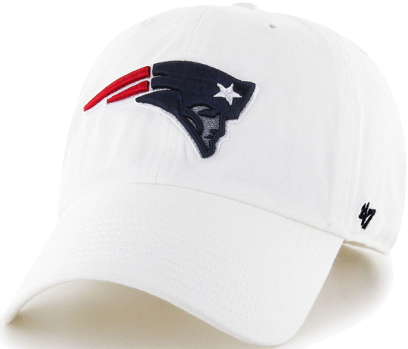 '47 Men's New England Patriots Clean Up White Adjustable Hat