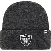 47 Men's Las Vegas Raiders Brainfreeze Black Cuffed Knit