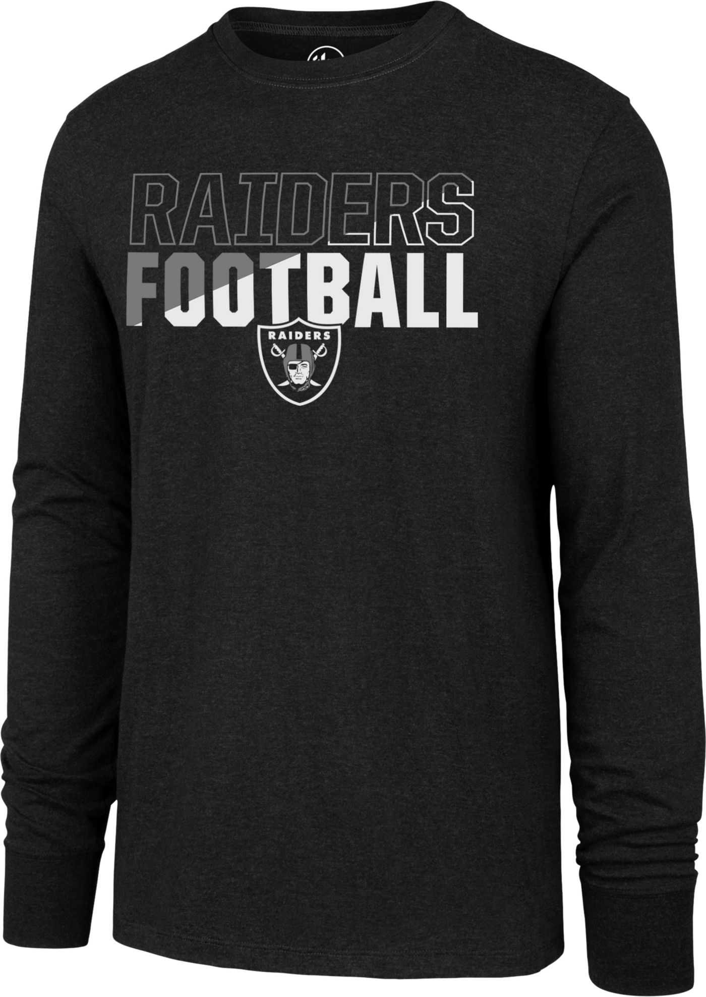 '47 Men's Oakland Raiders Club Long Sleeve Black Shirt