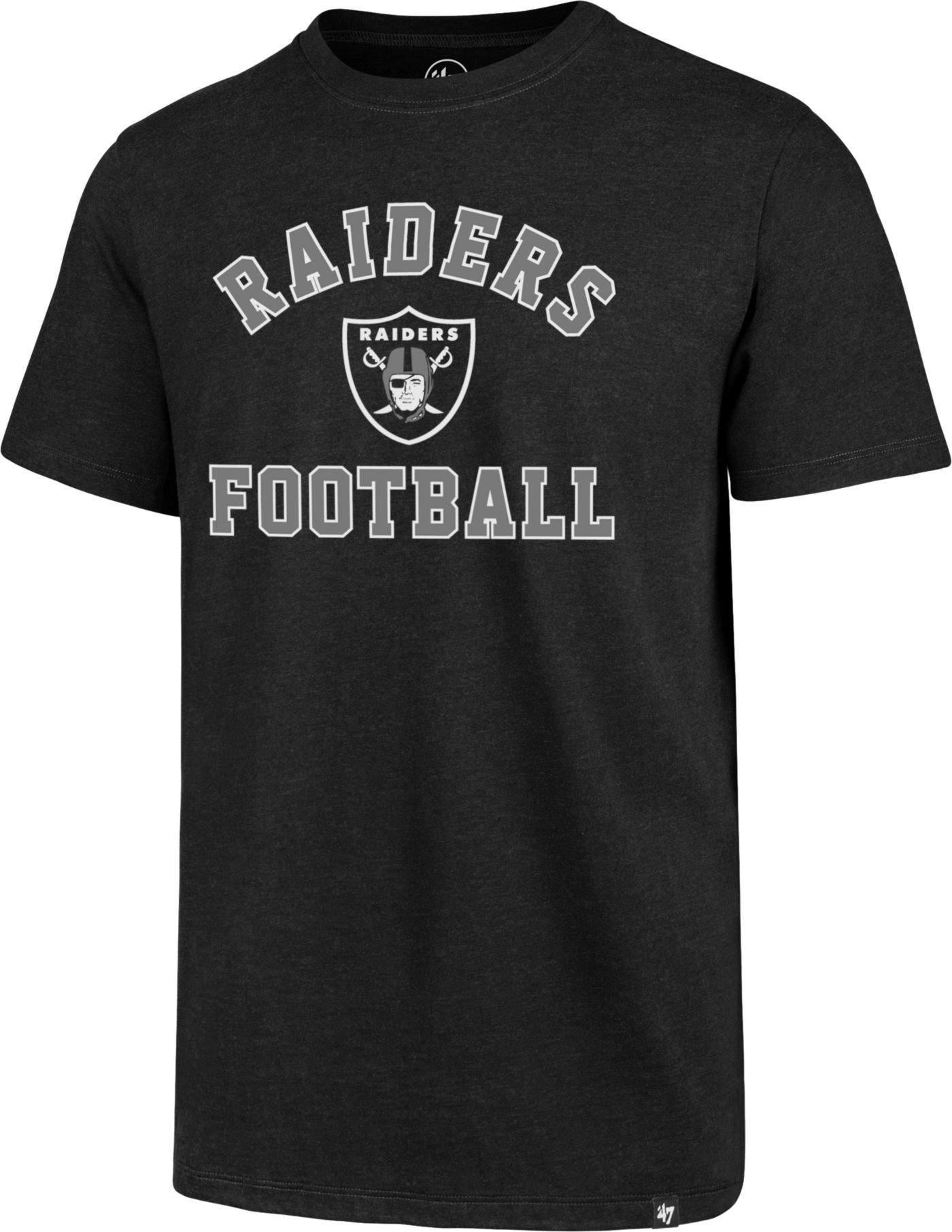 '47 Men's Oakland Raiders Club Arch Black T-Shirt