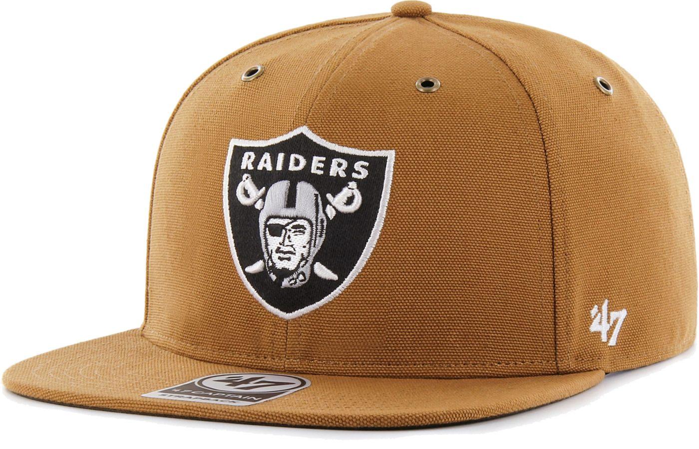 '47 Men's Oakland Raiders Carhartt Captain Adjustable Brown Hat