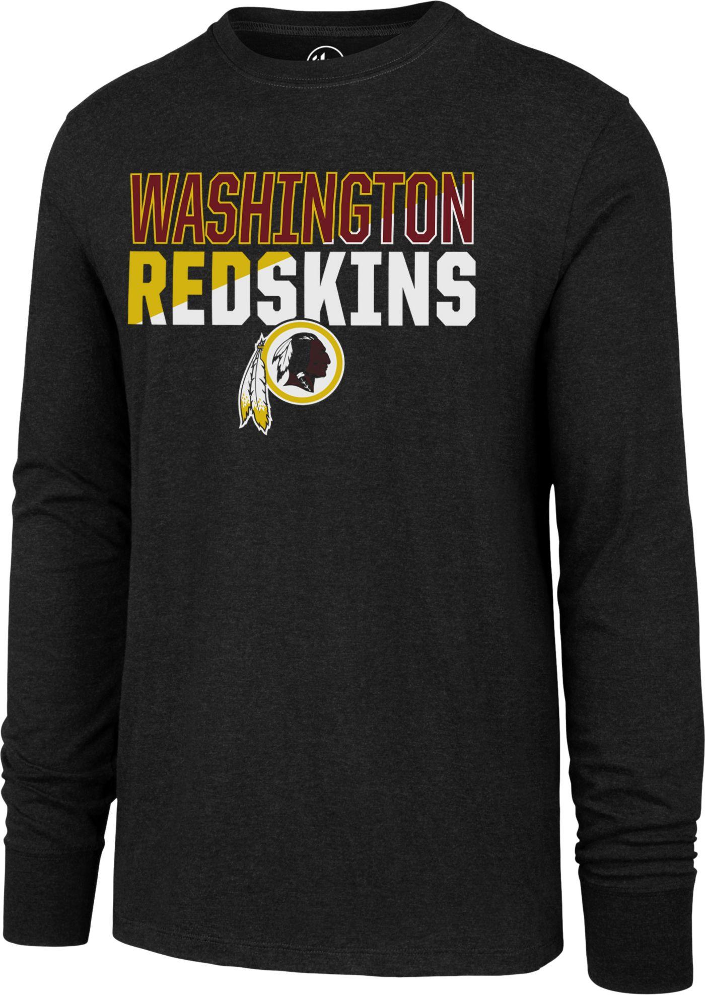 '47 Men's Washington Redskins Club Long Sleeve Black Shirt