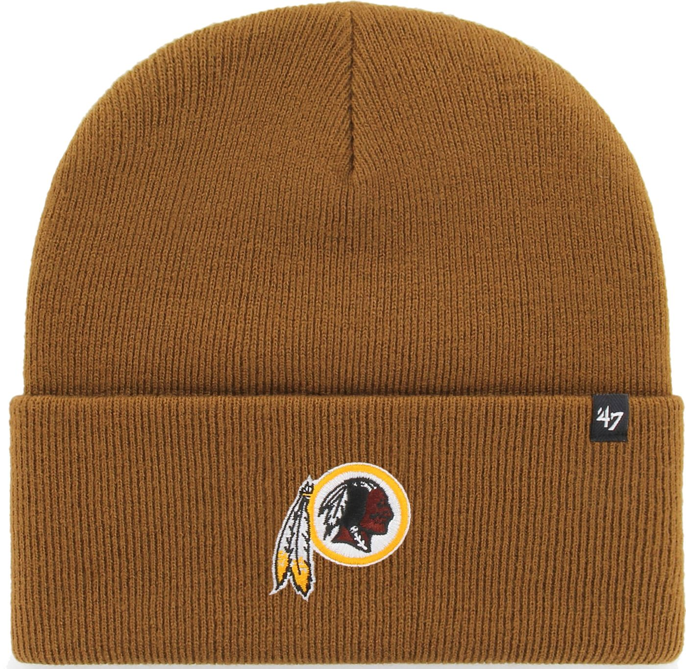 '47 Men's Washington Redskins Carhartt Brown Knit Hat