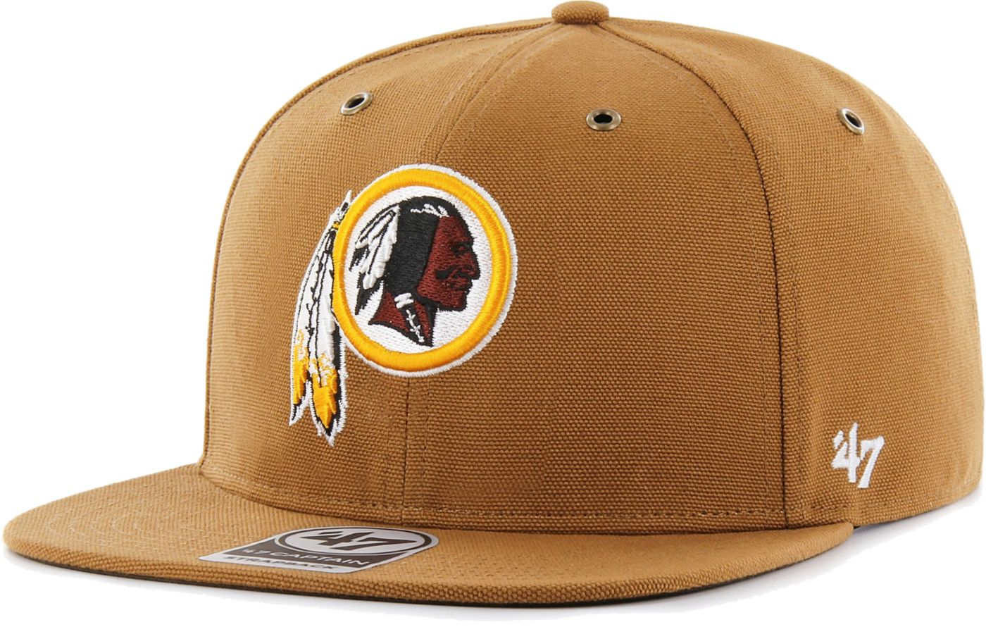 '47 Men's Washington Redskins Carhartt Captain Adjustable Brown Hat