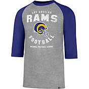 '47 Men's Los Angeles Rams Legacy Club Grey Raglan Shirt