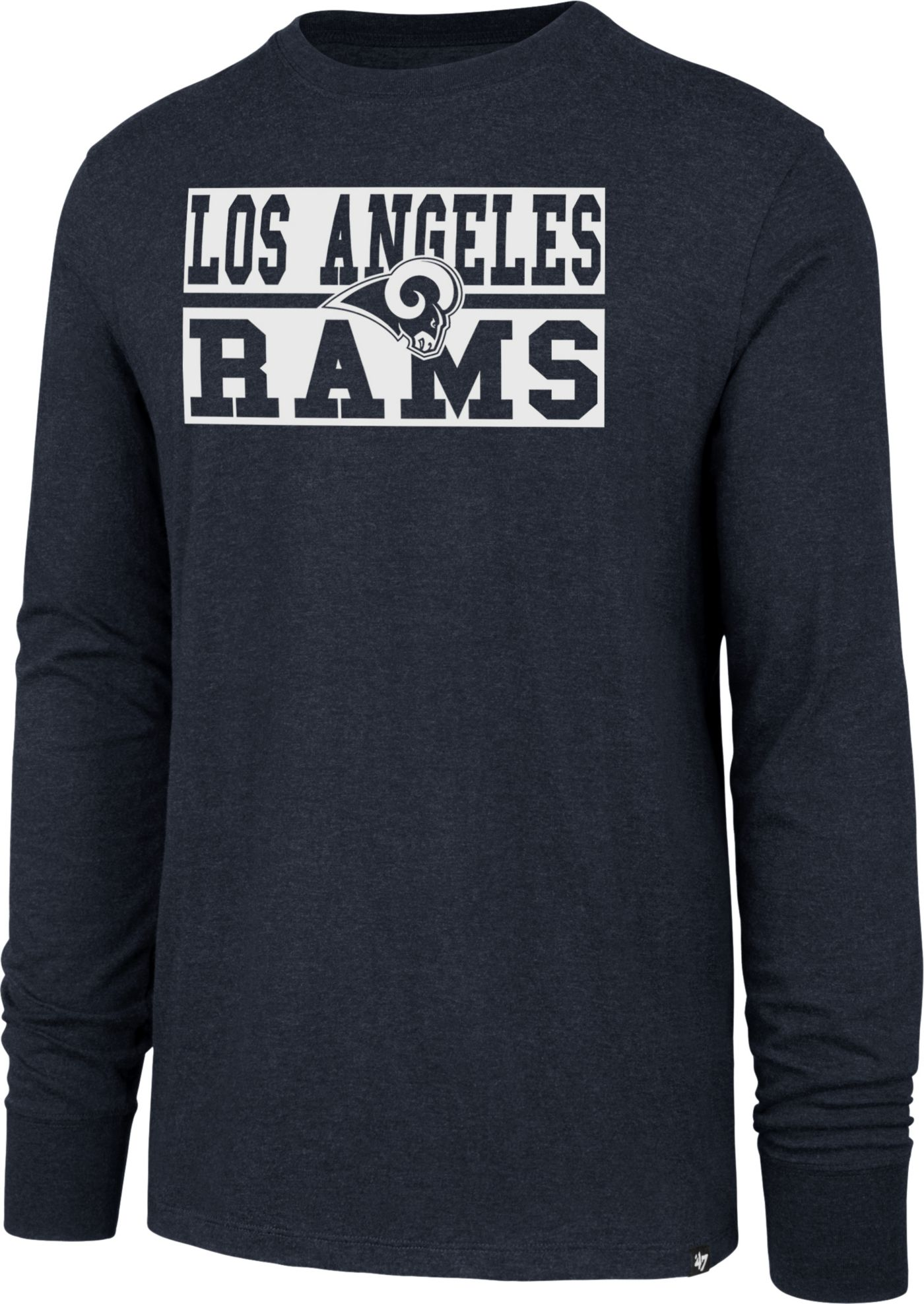 '47 Men's Los Angeles Rams Club Long Sleeve Navy Shirt