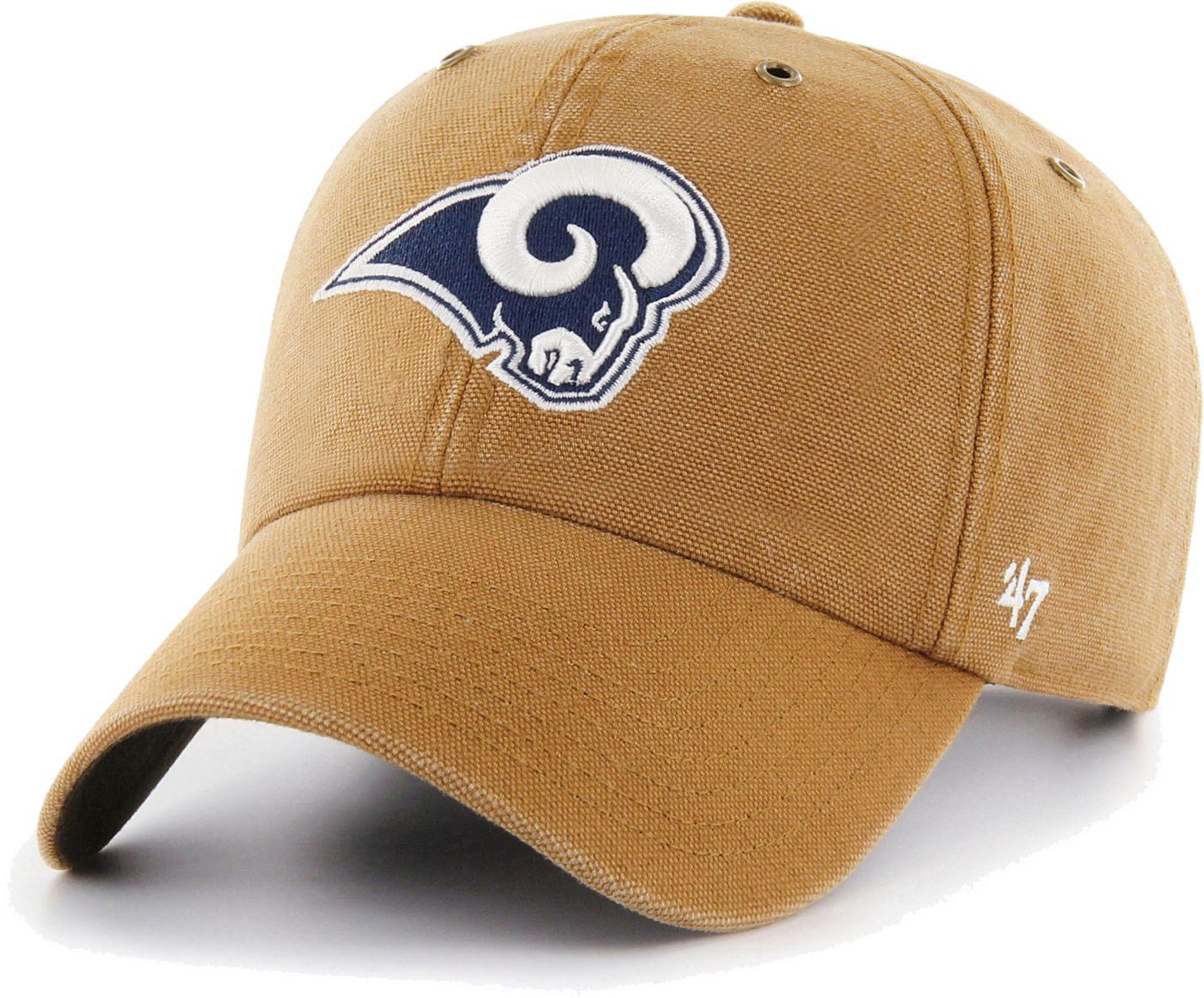 '47 Men's Los Angeles Rams Carhartt Clean Up Adjustable Brown Hat