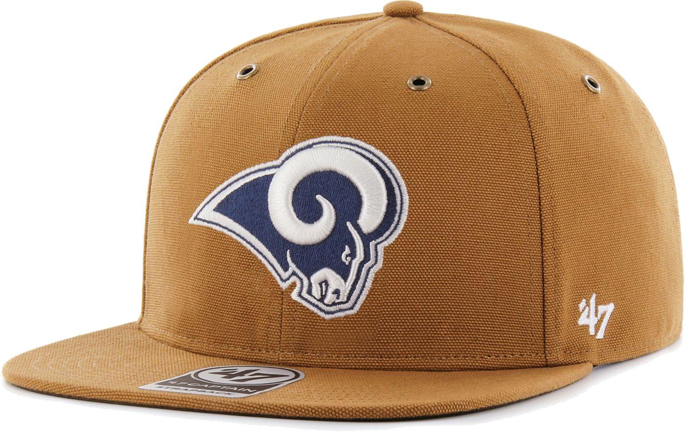 '47 Men's Los Angeles Rams Carhartt Captain Adjustable Brown Hat
