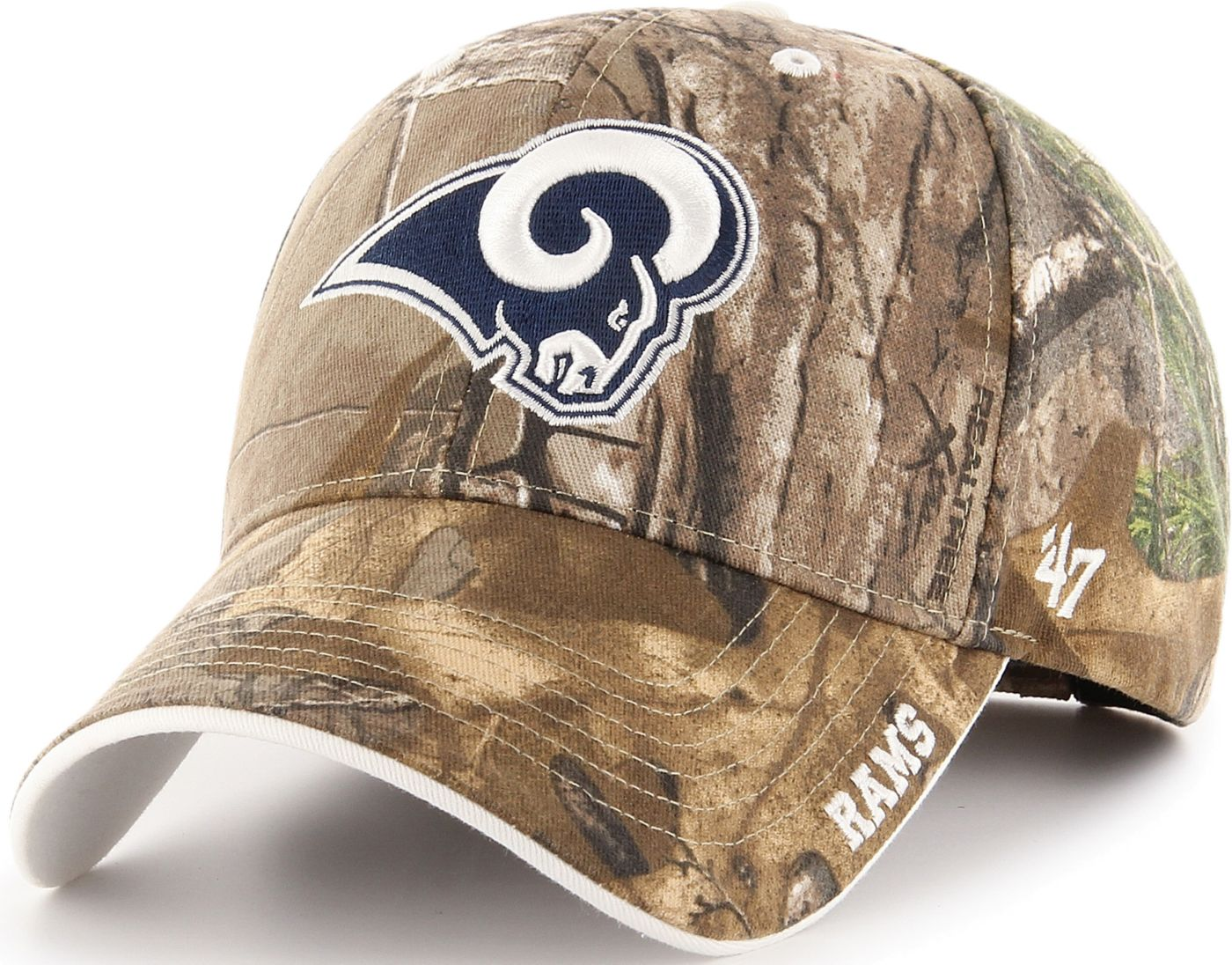 '47 Men's Los Angeles Rams Frost Realtree Adjustable Camouflage Hat