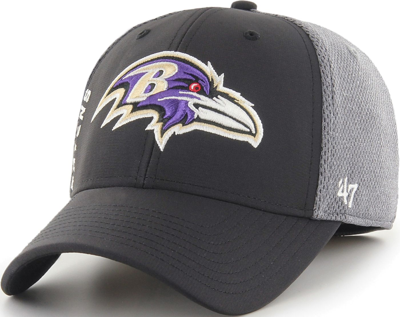 '47 Men's Baltimore Ravens Wycliff Contender Stretch Fit Black Hat