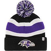 47 Men's Baltimore Ravens Breakaway Black Pom Knit Hat