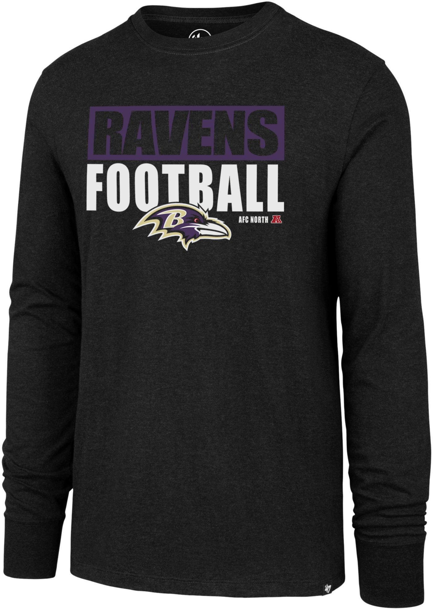 '47 Men's Baltimore Ravens Club Long Sleeve Black Shirt