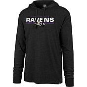 '47 Men's Baltimore Ravens Club Black Hooded Long Sleeve Shirt