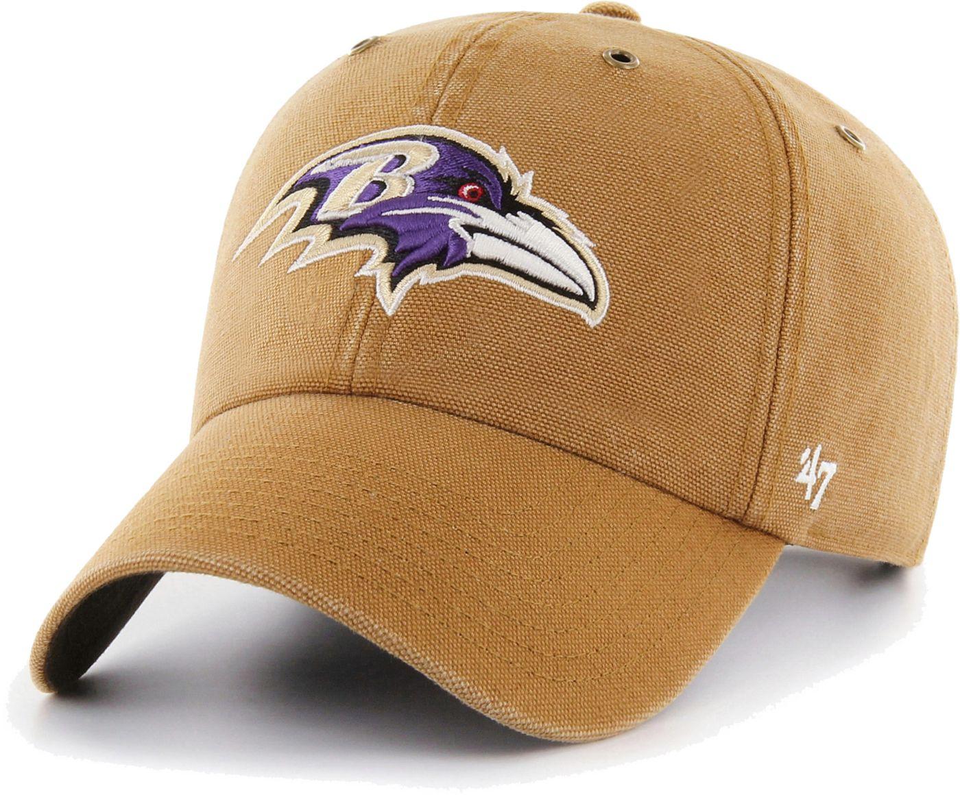 '47 Men's Baltimore Ravens Carhartt Clean Up Adjustable Brown Hat