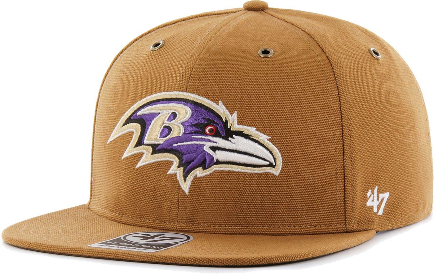 '47 Men's Baltimore Ravens Carhartt Captain Adjustable Brown Hat