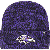 47 Men's Baltimore Ravens Brainfreeze Purple Cuffed Knit Hat