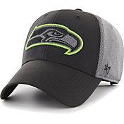 '47 Men's Seattle Seahawks Arlo MVP Adjustable Black Hat
