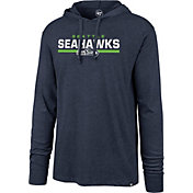 '47 Men's Seattle Seahawks Club Navy Hooded Long Sleeve Shirt