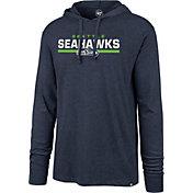 '47 Men's Seattle Seahawks Club Navy Hooded Long Sleeve Shirt