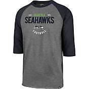 '47 Men's Seattle Seahawks Club Grey Raglan Shirt
