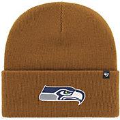 '47 Men's Seattle Seahawks Carhartt Brown Knit Hat