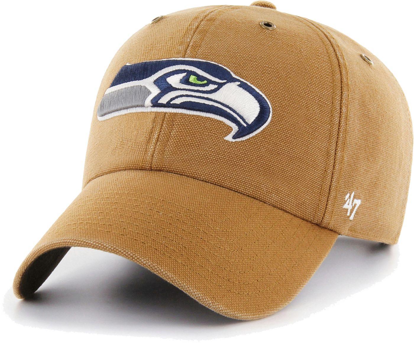 '47 Men's Seattle Seahawks Carhartt Clean Up Adjustable Brown Hat