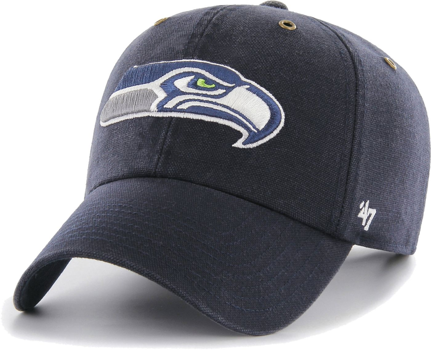 '47 Men's Seattle Seahawks Carhartt Clean Up Adjustable Navy Hat