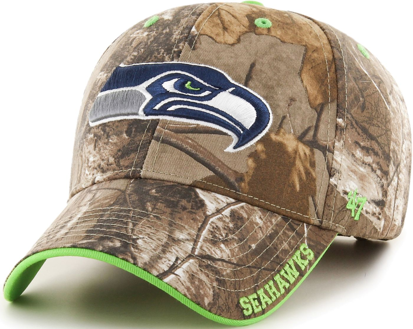'47 Men's Seattle Seahawks Frost Realtree Adjustable Camouflage Hat