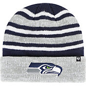 '47 Men's Seattle Seahawks Rotation Navy Cuffed Knit